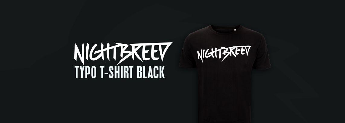 Nightbreed Typo T-Shirt Black
