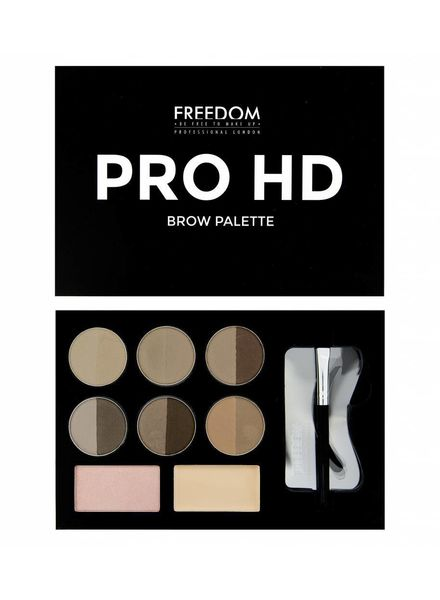 Freedom Makeup London Freedom Pro HD Brow Palette Fair Medium