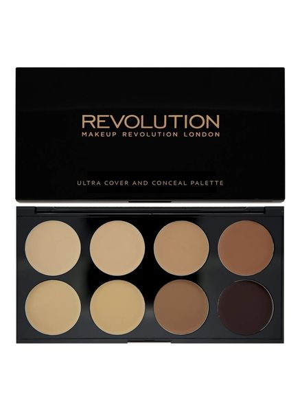 Makeup Revolution Makeup Revolution Ultra Cover and Concealer Palette Medium - Dark