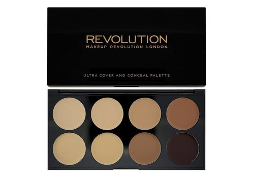 Makeup Revolution Ultra Cover and Concealer Palette Medium - Dark