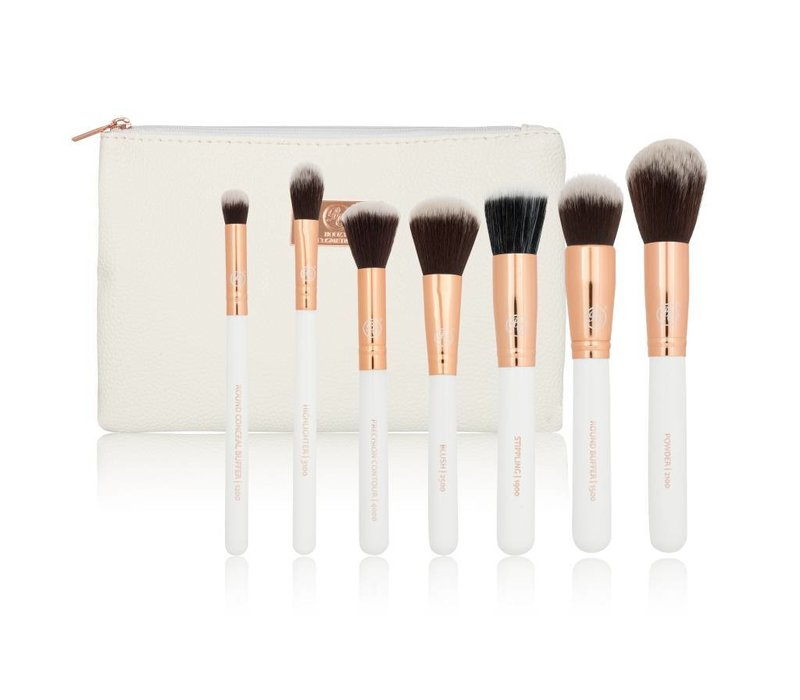 Boozy Cosmetics Rose Gold BoozyBrush 7 pc Starter Face Set