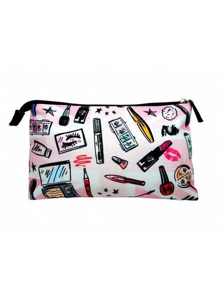 W7 W7 Large Cosmetic Bag Cosmetic Print