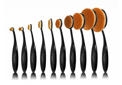 Boozy Cosmetics 10 pc Black Oval Brush Set