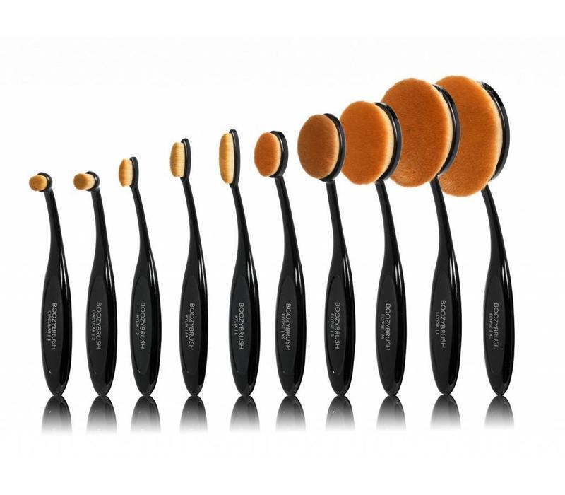 Boozy Cosmetics 10 pc BoozyBrush Black Oval Brush Set
