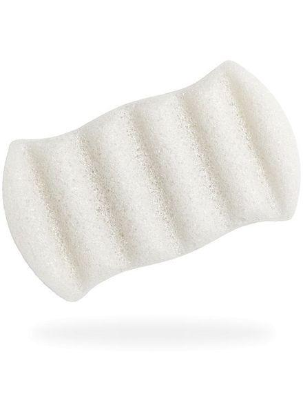The Konjac Sponge The Konjac Sponge Six Wave Body Puff Pure White