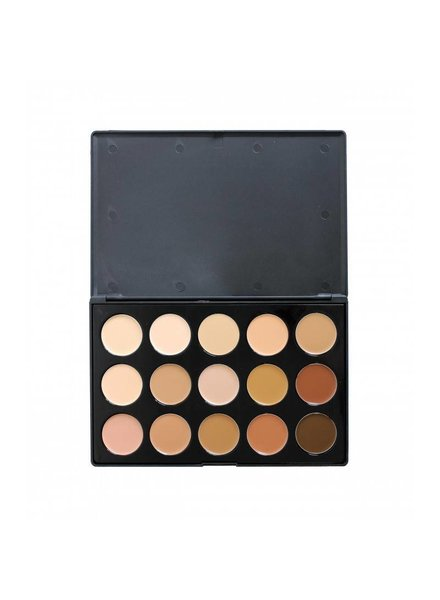 Crown Brush Crown Brush 15 Color Cream to Powder Foundation Palette