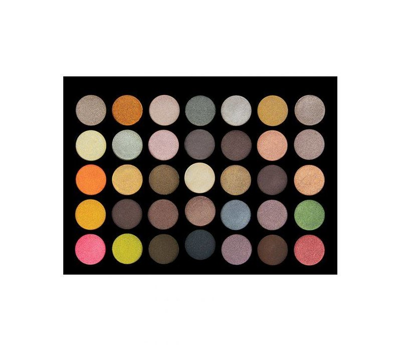 Crown Brush 35 Color Eyeshadow Palette Metal Madness