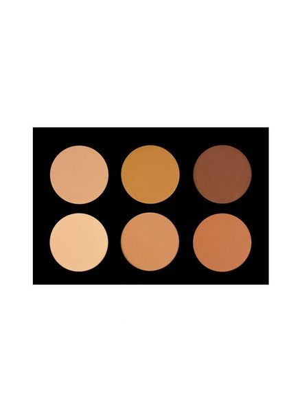 Crown Brush Crown Brush 6 Color Pressed Powder Foundation Palette