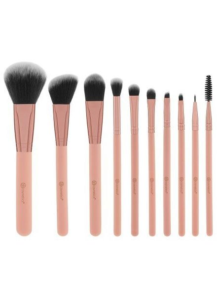 BH Cosmetics BH Cosmetics Pretty in Pink 10 Piece Brush Set with Cosmetic Bag