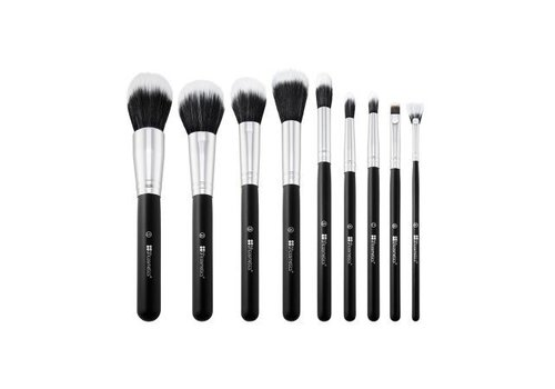 BH Cosmetics 9 Piece Brush Set with Brush Roll