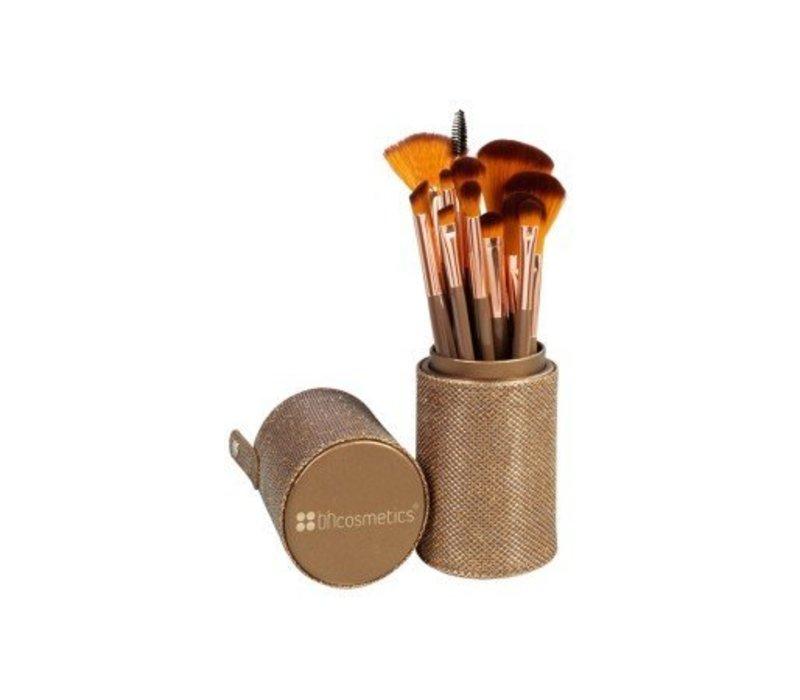 BH Cosmetics Shimmering Bronze 12 Piece Brush Set