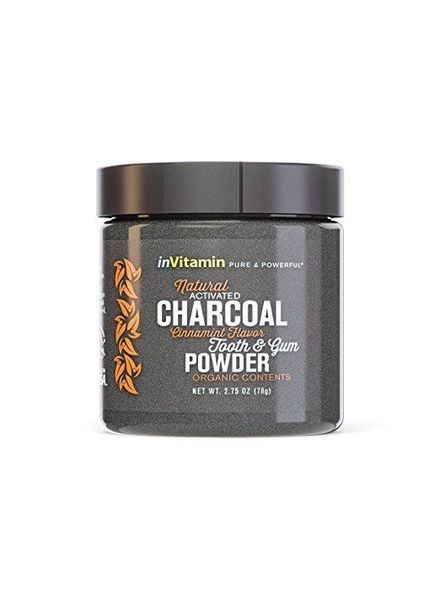 Invitamin Invitamin Active Charcoal Teeth Whitening Powder Cinnamint