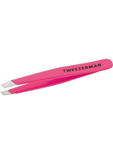 Tweezerman Tweezerman Mini Slant Tweezer Flamingo Pink