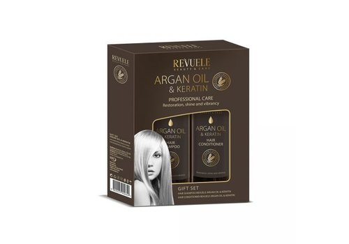 Revuele Argan Oil and Keratin Gift Set