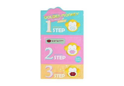 Holika Holika Golden Monkey Glamor Lip 3-Step Kit