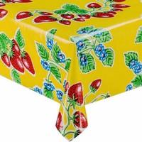 Mexicaans tafelzeil op rol 11m Aardbei geel