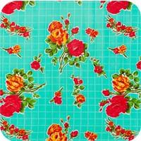 Mexciaans Tafelzeil 2,5m bij 1,20m Rosedal mint