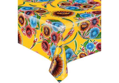 MixMamas Tafelzeil Floral - Rol - 120 cm x 11 m - Geel