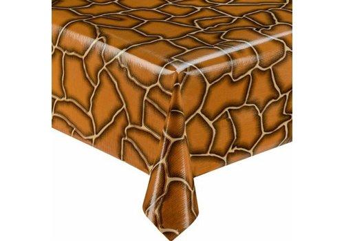 MixMamas Tafelzeil Giraffe - 120 x 300 cm - Bruin/Beige