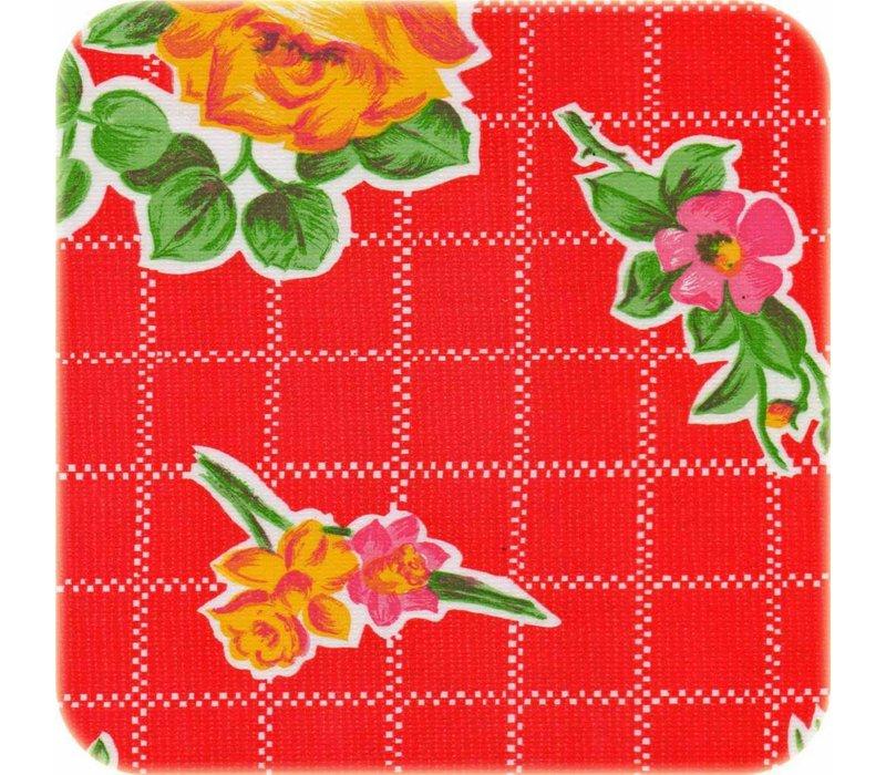 Mexicaans tafelzeil op rol 11m Rosedal rood