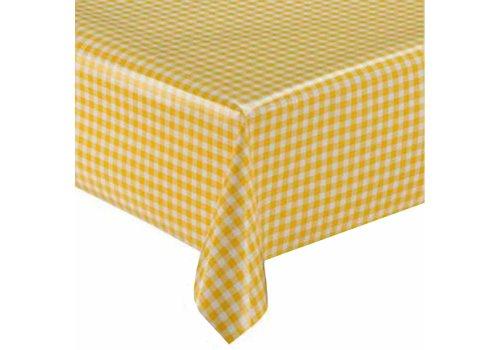 MixMamas Tafelzeil op rol Ruit geel