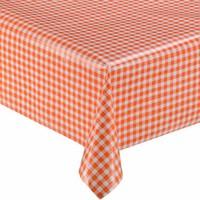 Mexicaans tafelzeil op rol 11m Ruit oranje