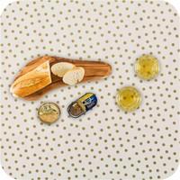 Mexicaans tafelzeil op rol 11m Wit met gouden stippen