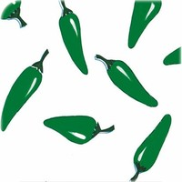 Mexicaans Tafelzeil Chili pepers - Rol - 120 cm x 11 m - Wit/Groen