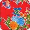 MixMamas Mexicaans tafelzeil op rol Vlinder rood 11m