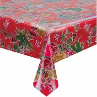 Mexicaans tafelzeil op rol Vlinder rood 11m