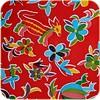 MixMamas Mexicaans tafelzeil op rol Bloemen en dieren rood 11m.