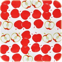 Mexicaans tafelzeil op rol Appeltjes wit-rood 11m