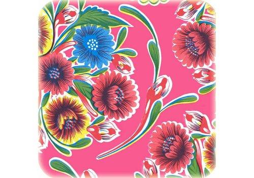 MixMamas Tafelzeil 2m floral fuchsia