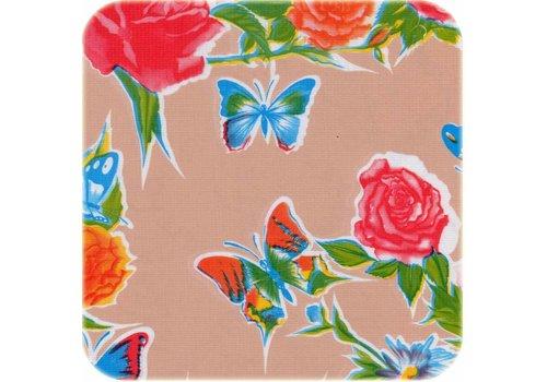 MixMamas Tafelzeil Vlinder - 120 x 300 cm - Zalmroze