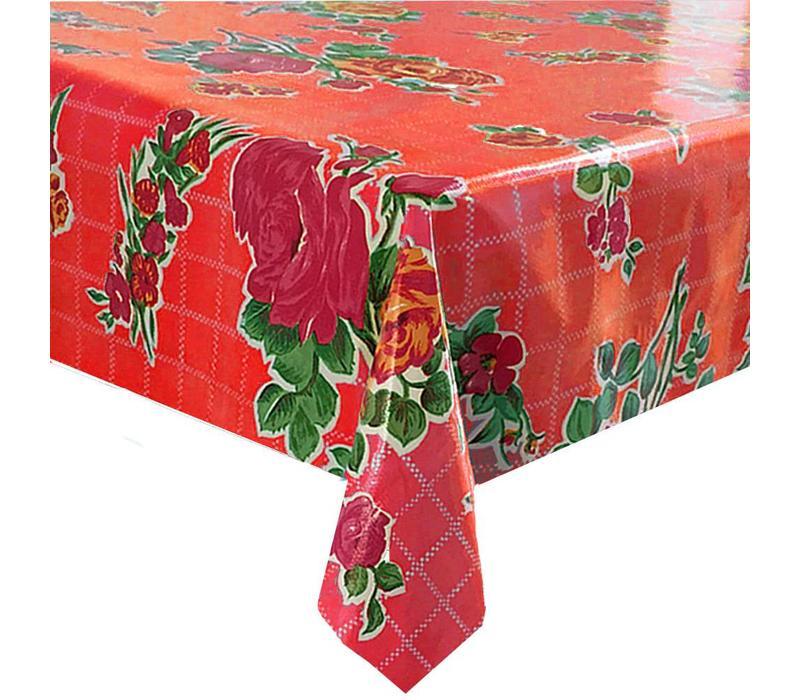 Mexicaans Tafelzeil Rozendal - 120 x 300 cm - Rood