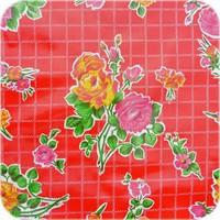 Mexicaans Tafelzeil 3m bij 1,20m Rosedal rood