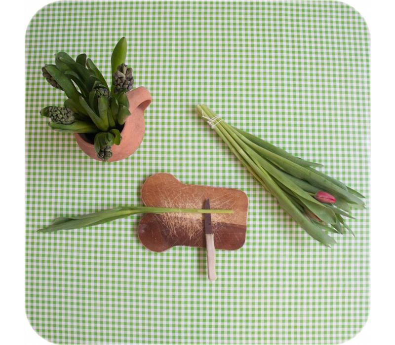 Mexicaans tafelzeil 2m bij 1.20m, Ruit limoen groen