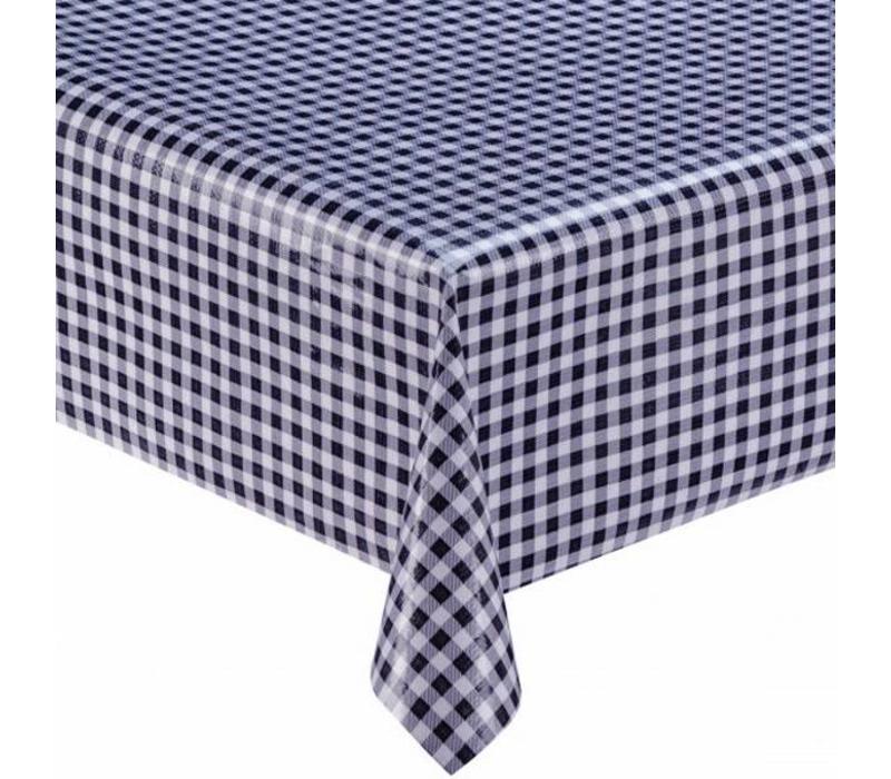 Mexicaans tafelzeil 2m bij 1.20m, Ruit donkerblauw
