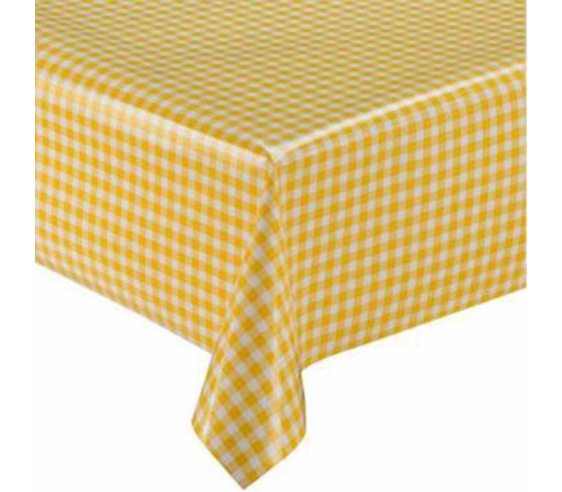 Mexicaans Tafelzeil vierkant 1,20m bij 1,20m Ruitje geel