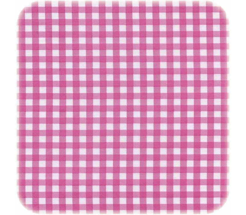 Tafelzeil Ruitje Vierkant - 120 x 120 cm - Roze