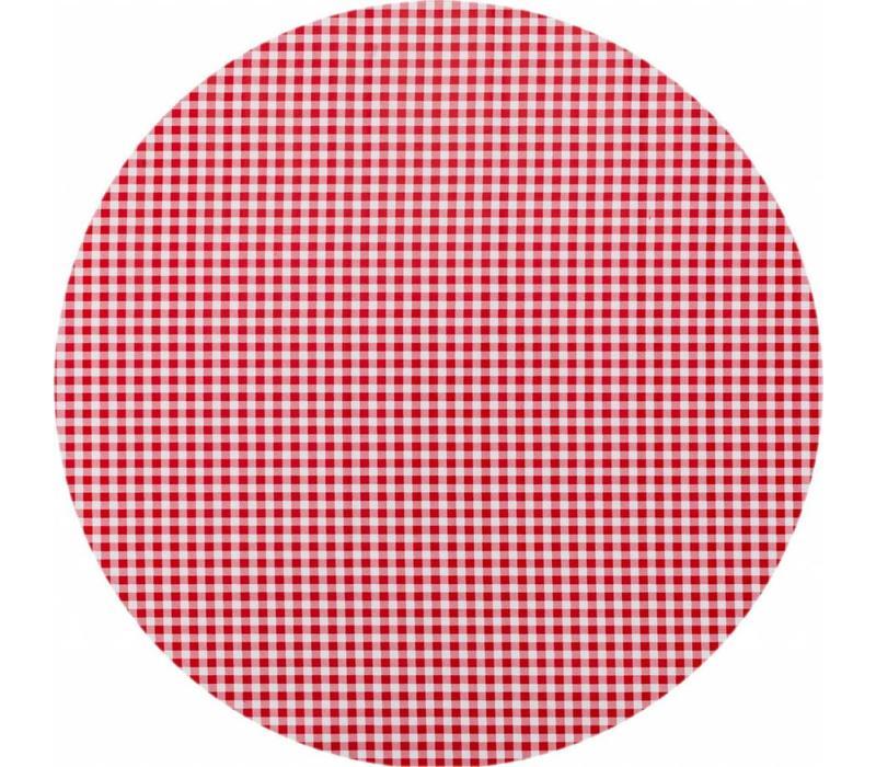 Rond tafelzeil 120cm ruit rood