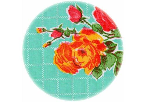 MixMamas Rond tafelzeil 120cm Rosedal mint