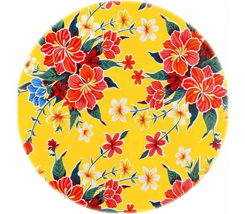 Rond tafelzeil 120cm fortin geel rond