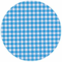 Tafelzeil Rond - Ø 120 cm - Ruitje - Lichtblauw
