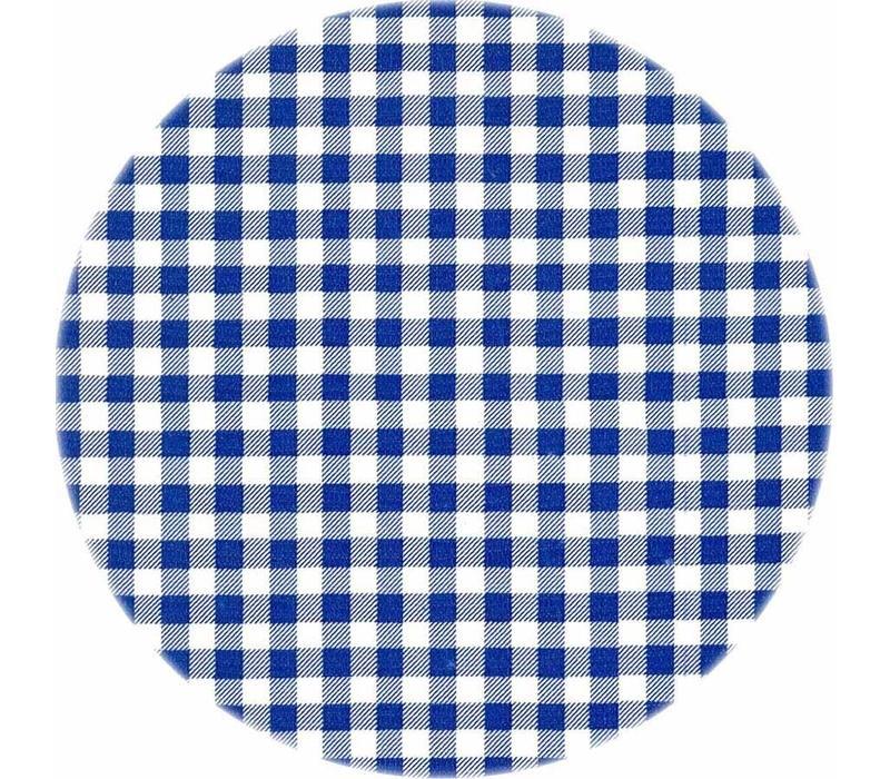 Rond tafelzeil 120cm ruitje donkerblauw