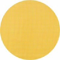 Rond tafelzeil 120cm ruitje geel