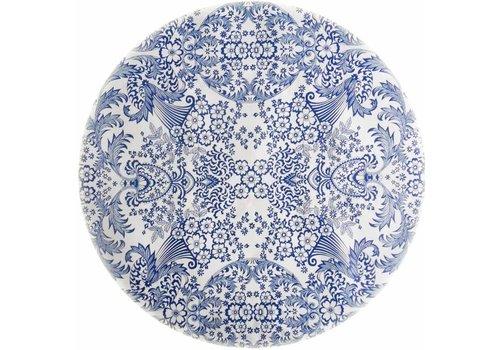 MixMamas Tafelzeil Rond - Ø 120 cm - Paraiso / Barok - Blauw