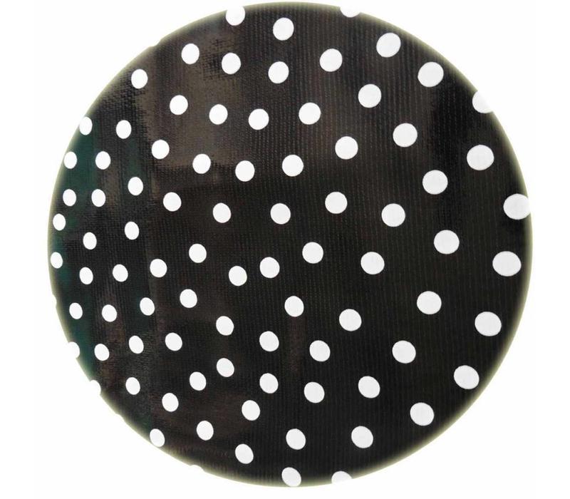 Rond tafelzeil 120cm zwartwit stip