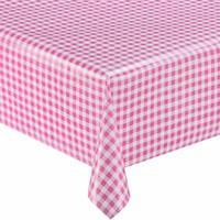 Rond tafelzeil 120cm ruit rose