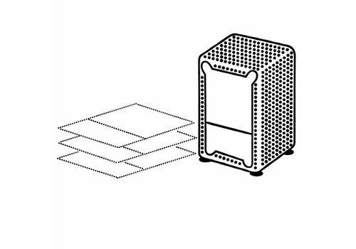 MixMamas Dispenser Servetten - Navulverpakking servethouder 500 stuks - Wit